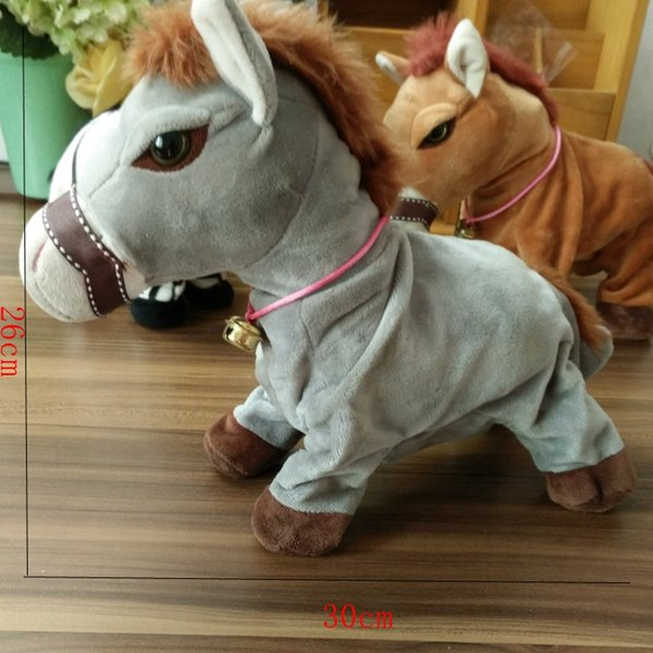 2018 HOT Plush horse Toy Induction Voice Control Electric Toys Children's Plush Toys Sensitive toy birthday pony presents.