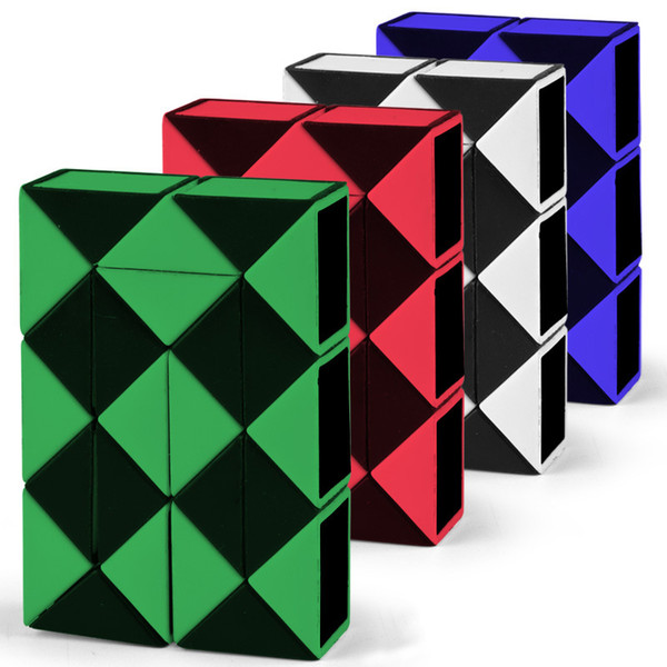 top popular Direct selling children puzzle magic ruler 24 section folding decompression magic cube toy hot selling stall wholesale 2021