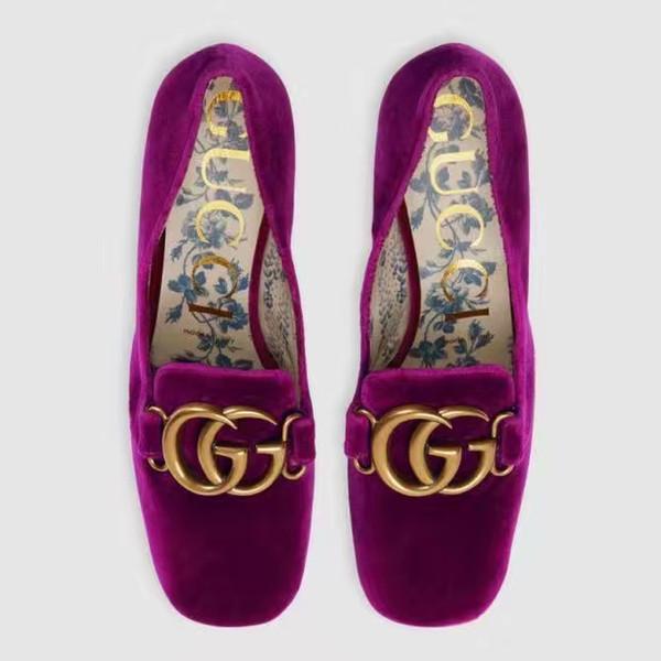 flats ladies serpentine vintage chaussures en cuir avec carré épais et rivet manche manchon de pédale Kevin marée simple chaussures de marque femmes