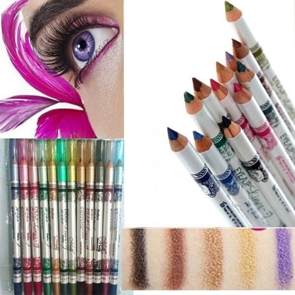 12 farbe / set Eyeliner Lidschatten Eye Pencil Make Up Wasserdicht Lidschatten Bleistift Eyeliner Make-Up Lidschatten Kosmetik