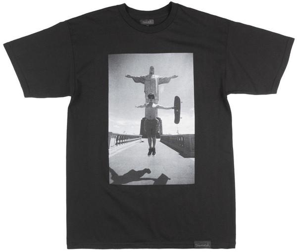 Diamond Supply Co Hosoi Christ T-Shirt Mens Skate Top Black Hot New 2018 Summer Fashion T Shirts Hot Cheap Men'S