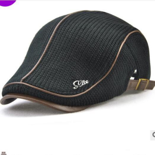 Sun hat knit cap for the elderly men autumn and winter thickened warm beret leisure ancient England