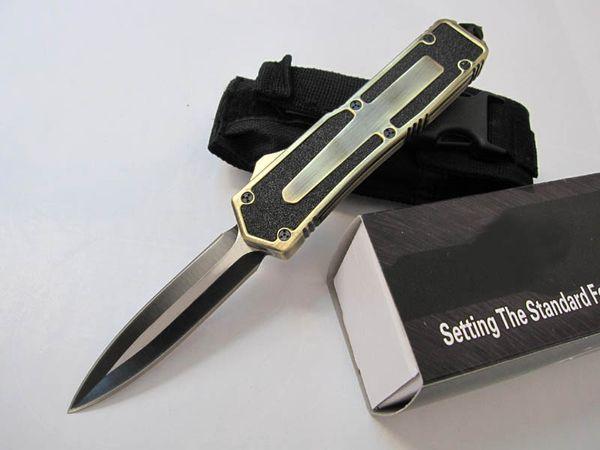 Scarab 3 modelli oro doppio bordo doppia azione di pesca autodifesa automatica caccia tasca coltello da campeggio coltello regalo di natale per gli uomini C36 C81