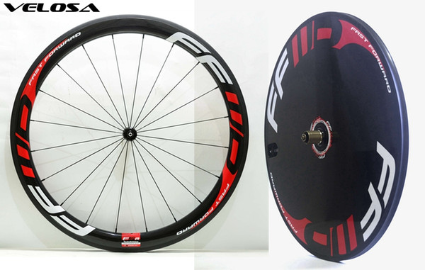 Track/Time Trial/Triathlon bike carbon wheelset front 60mm+ rear disc carbon wheel, 60mm + disc wheelset