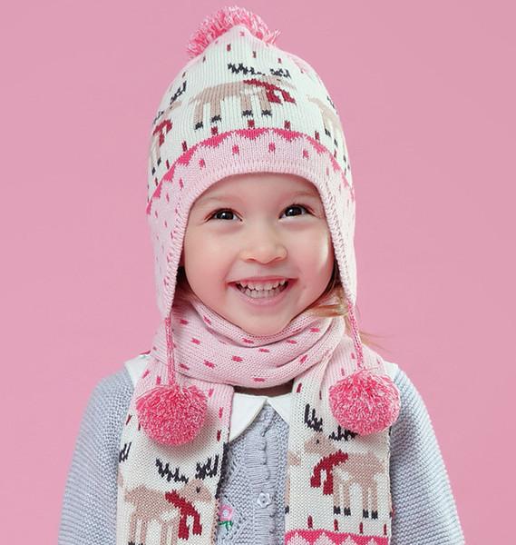 Compre Baby Cornamentas De Punto Niñas Chirstmas Renos Patrón De ...