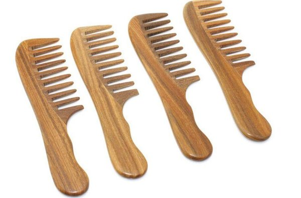 Handmade Wooden Sandalwood Wide Tooth Wood Comb Natural Head Massager Hair Combs Hair Care