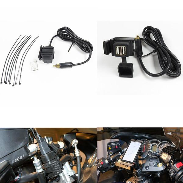 Caricabatteria da auto per moto caricabatterie da 12 V impermeabile 2 USB Caricatore per presa di corrente GPS Accessori per moto AAA1008