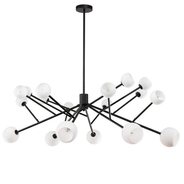 Lampe de bambou minimaliste postmoderne nordique salon restaurant personnalité créative éolienne industrielle rond lustre designer nordique mol