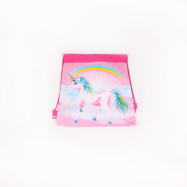 1pc/pack Rainbow unicorn Theme Party Loot Bag Party Supplies Gift Bag Kid Girls' Birthday Wedding Decoration