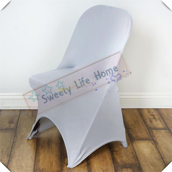 Silver Wedding Folding spandex covers Free shipping Fold Chair Covers Strech Chair seats For Outdoor Chairs
