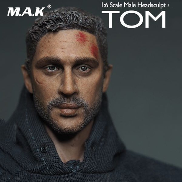 1/6 Scale Male Head Venom Leading Role Tom Hardy Head Sculpt Model for 12 inches Man Action Figure Body Accessory