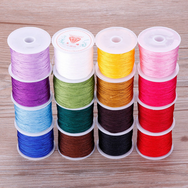 0.8mm 45M/Roll Hot Sale Nylon Thread Cord For Bracelets Beading Necklace Jewelry Accessories Making Home DIY Craft #255733