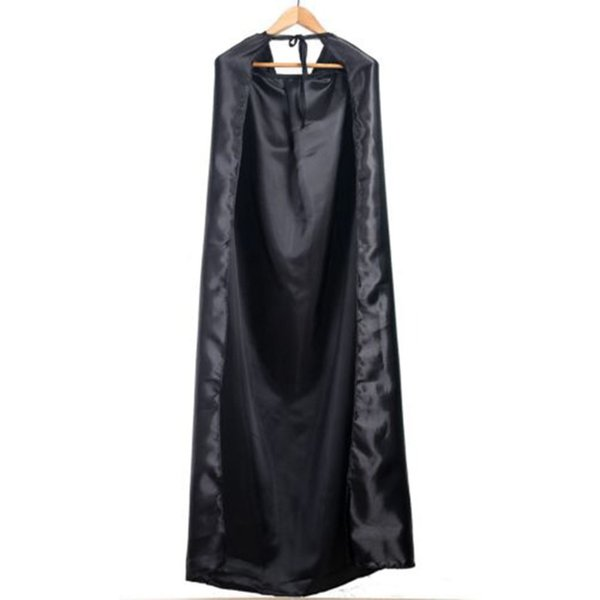Wholesale New Black Halloween Costume Theater Prop Death Hoody Cloak Devil Long Tippet Cape Cosplay 2017 Fashion Dropshipping