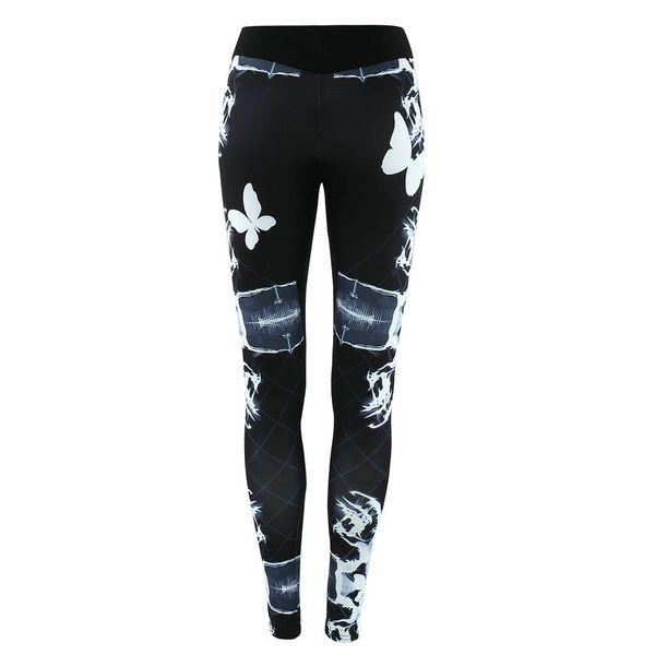 Yoga Pants Sportwear Womens Print Leggings Running Fitness Sports Trousers Long Pants Jogging Tights Sports Cloth S-XL