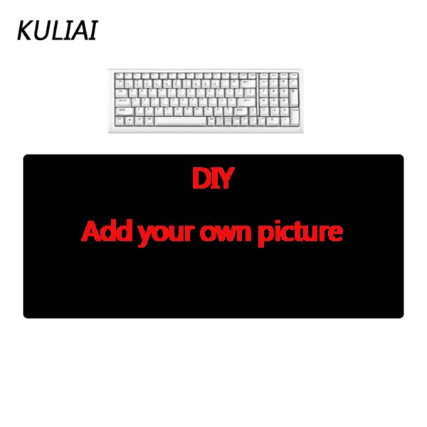 KULIAI DIY Large Size Rubber Mouse Pad Non-slip Bottom Smooth Surface Keyboard Laptop Player MousePad for Custom Made Gifts Mats