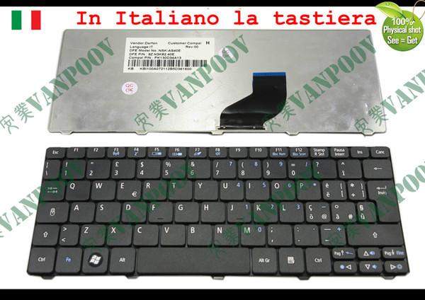 New Laptop keyboard for Acer Aspire One D255 D260 521 533, Gateway LT22 Matt Black Italian IT version - NSK-AS40E