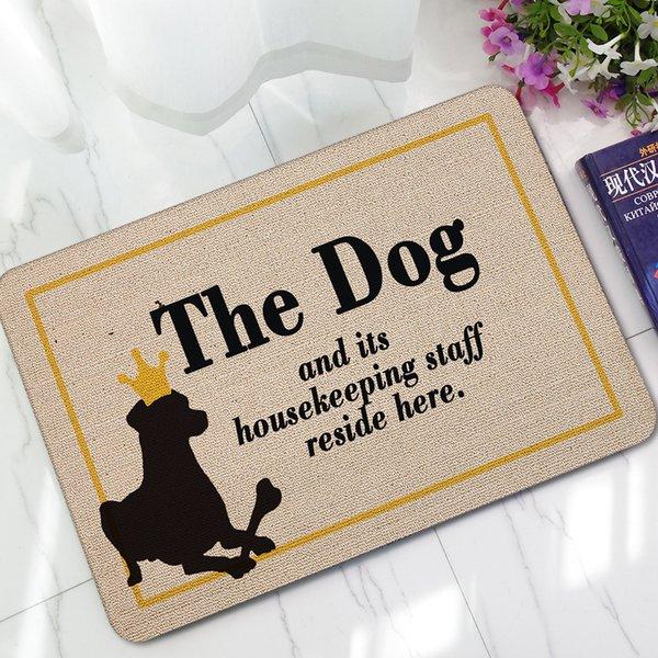 Esteiras de porta de borracha de entrada bonito engraçado cão dos desenhos animados gatos tapetes crianças quarto cabeceiras de pé cabeceira paillasson alfombra cocina decoração frete grátis