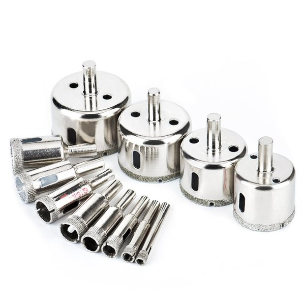 12 Pcs/set Tile Hole Saw Coated Core Remover Tool for Glass,Granite,Ceramic and Porcelain