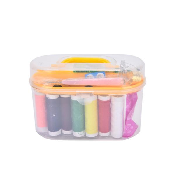New 50 Set Portable Mini Travel Sewing Kit With Box Needle Threads Scissor Thimble Home Tools