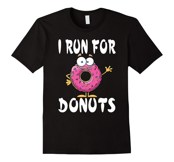 Funny Runninger Donut T-Shirt - Runer for Donuts Runners Tee Cheap Sale 100 % Cotton T Shirts for Boys Men Lastest Top Tee