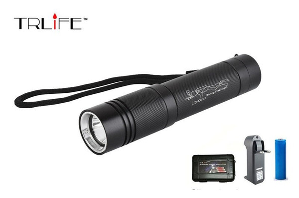 5000 LM CREE XML T6 Diving Light LED Dive Flashlight Lamp Torch Underwater 100m Waterproof 18650 Battery Diver Torch