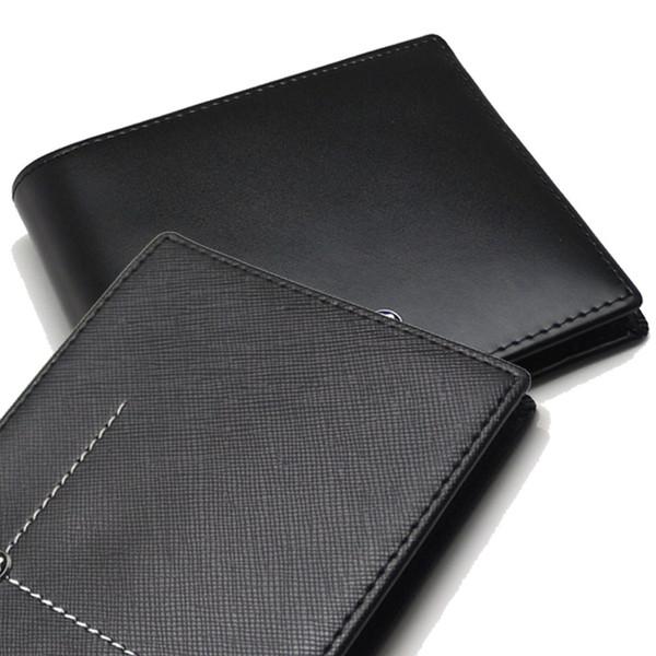 Großhandel Männer Neue Luxus Mb Brieftaschen Aus Echtem Leder Visitenkartenetui Schwarz Kurze Brieftasche Quadratischen Kartenhalter Sammleredition