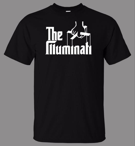 2018 New Fashion Brand Clothing 100% Cotton Short Sleeve O-Neck Cotton T-Shirt Puppet Illuminati Cool T Shirts 100% Cotton Classic tee