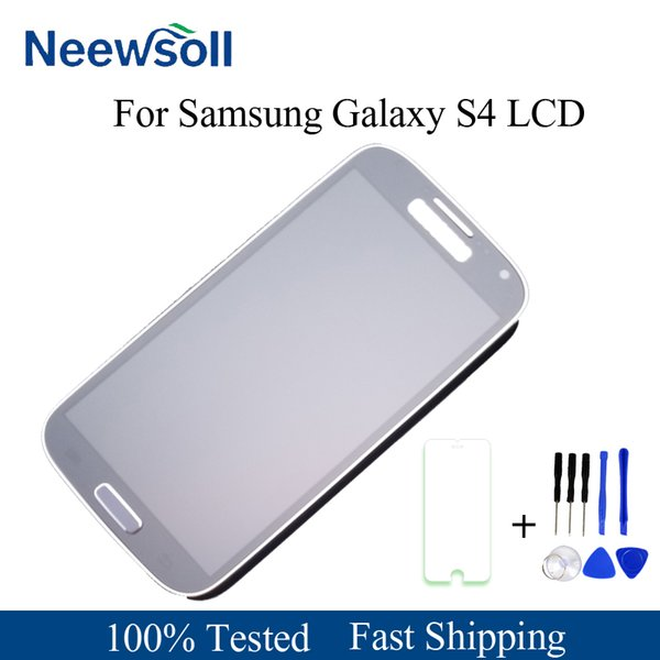 For Galaxy S4 i9505 LCD Display Touch Screen Digitizer Frame For s4 i9505 display lcd