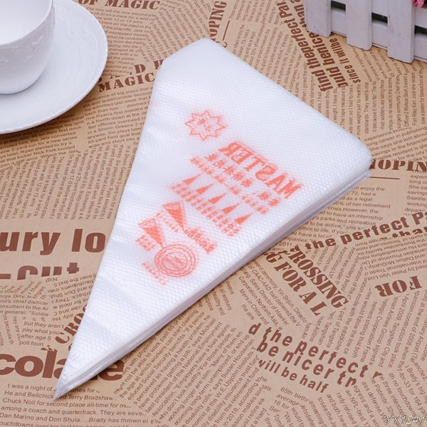 100Pcs/Pack S Size Disposable Piping Bag Icing Fondant Cake Cream Decorating Pastry Tip Tool Y110-Dropshipping