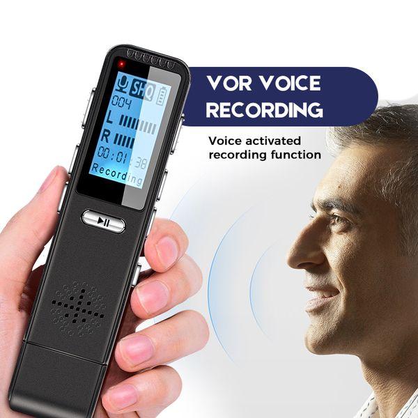 VOR Voice Control Recorder Dictaphone Mini Registrar Hidden Audio Microphone Telephone Recording Smallest Pen Flash Drive