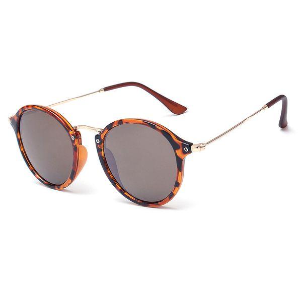 h crius 2018 new vintage women's sunglasses fashion european and american style round women sun glasses metal frame anti-uv 400