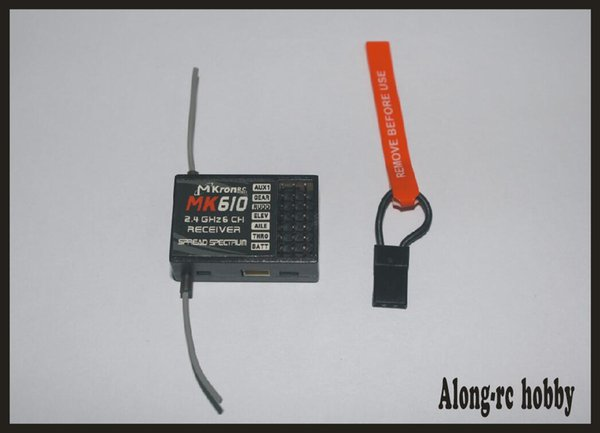 Ücretsiz kargo RC uçak Parçası MK610 (ar6100 olarak) 2.4G 6CH RC Alıcı Bind Plug DSM-2 fit JR DX6i DX7 DX8 Verici