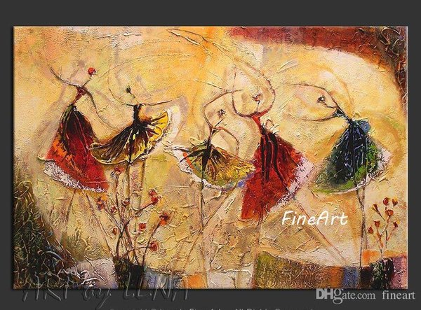 handmade dance oil painting ballet dancer modern oil painting wall hanging home decor unique gifts Kungfu Art
