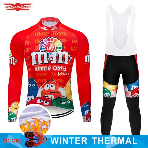 2018 lustige Winter Thermovlies Radtrikot Set MTB Fahrradbekleidung Ropa Ciclismo Herren Radsportbekleidung Fahrradbekleidung
