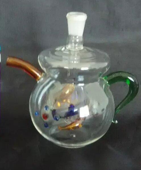 Tetera de Hookah Bongs al por mayor Pipas del quemador de aceite Pipas de agua Pipas de aceite del tubo de cristal que fuman, envío libre ghhh