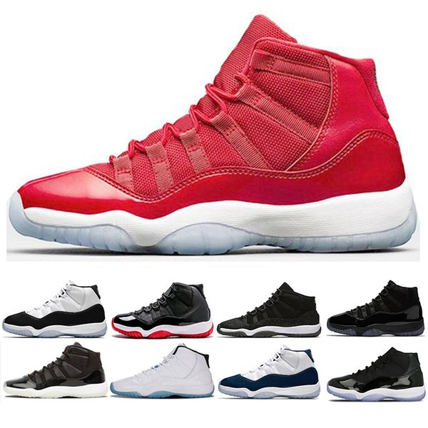 9140631a362073 New 11 Prom Night men women Basketball Shoes Cap and Gown 11s black concord Sneakers  Gym