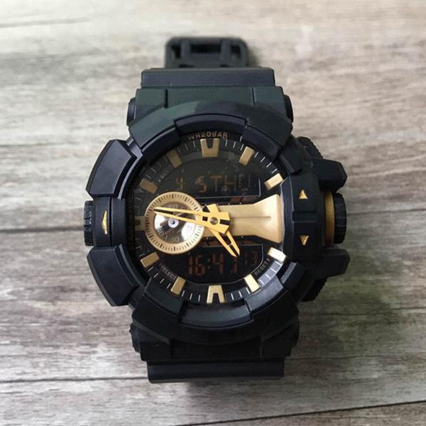 Venta caliente Mens Designer relojes All Pointers Work Auto Light LED resistente al agua Relojes Resistente a los golpes Reloj Relogio masculino