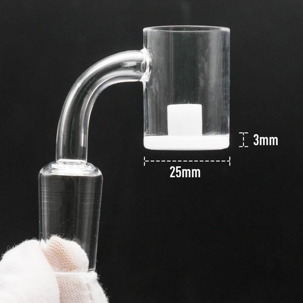 Новый 25 мм XL ядро реактора кварц непрозрачный Banger молоток banger ногтей толщиной 3 мм белое дно 10 мм 14 мм 18 мм Domeless кварцевые ногти стекло бонг