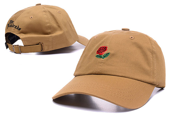 418e6e58ec0df The Hundreds Rose Embroidered Hat Baseball Cap Fashion 2018 new Unique  Adjustable Embroidered Rose Casual Hats