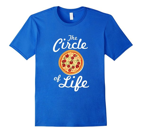 The Circle Of Life Funny Pizza Lover Food T-shirt Print T Shirt Men Brand Clothing Summer Short Sleeves Cotton Tops