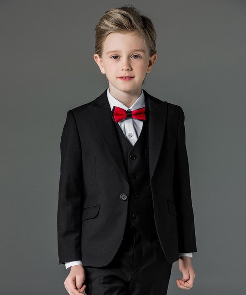 new Boy's Formal Wear Boys Suits Flower Boys Wedding Tuxedo 3 Piece Suits Page Boy Party Formal Custom