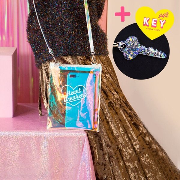 Bentoy Ins Harajuku Laser Shoulder Bag Organizer Pouch Purse Bags Jelly Cell Phone Handbags Hologram Shoulder Bags Korea Style