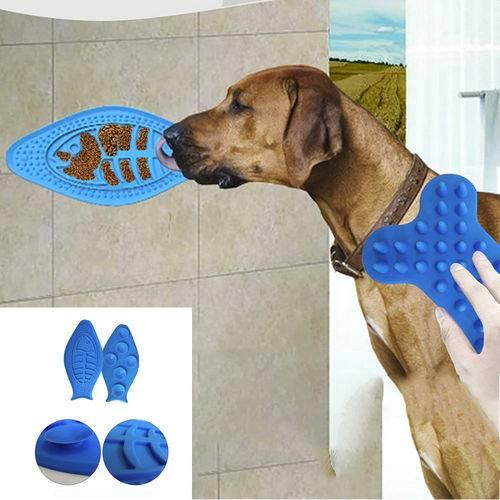 Dog Lick Pad Dog Peanut Butter Spread Pad Aider Dog Feeder Wash Distraction Device Pet Bath Toy Lick Easy Shower Training Tool