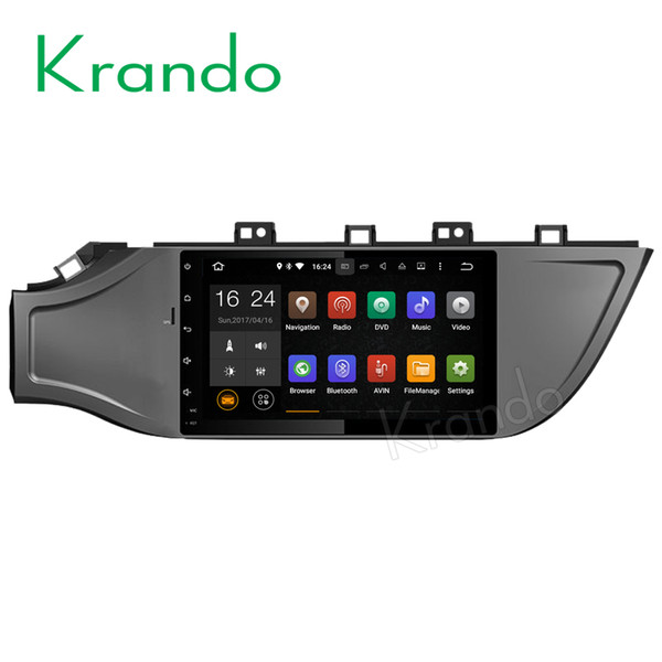 "Krando 9"" Android 7.1 car dvd audio navigation multimedia system for kIA k2 RIO 2017+ radio gps dvd palyer WIFI 3G DAB+"