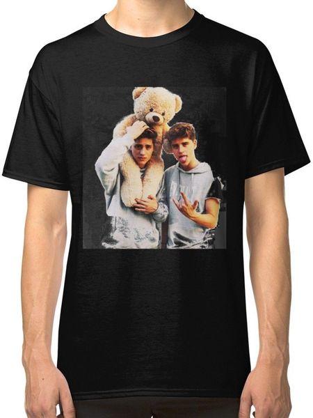 Tee Shirt Logo O-Neck Duo Martinez Twins Men's Black Tees Shirt Clothing Short Sleeve Tall T Shirt For Men