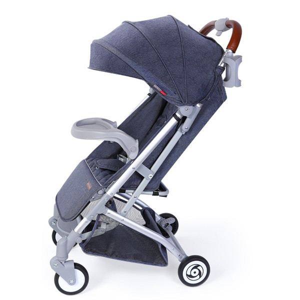 Newborn baby stroller lightweight folding sitting one key to collect the four seasons universal BB car generation