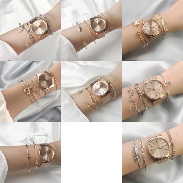 1 комплект браслет для женщин мода звезды Луны листок Лось Снежинка узел петля браслет металлические цепи Открытие ювелирного браслет