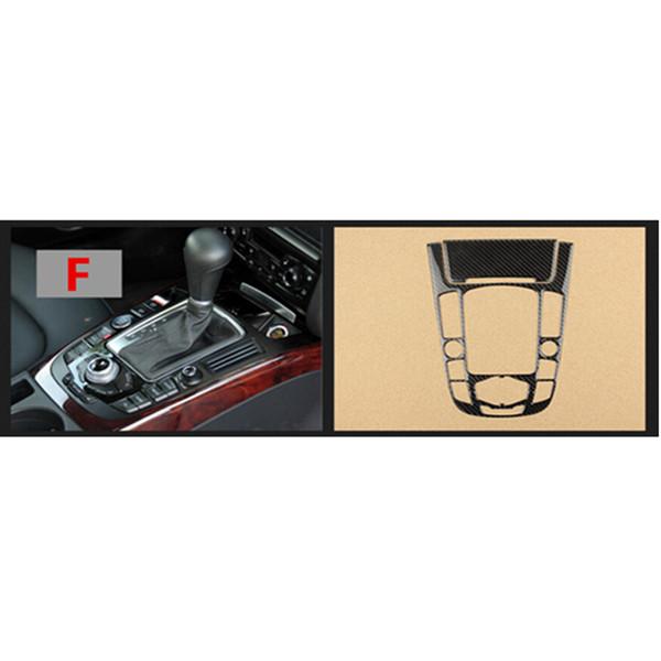 EBTOOLS Ajuste de la Cubierta del Panel de Control del Cambio de Engranaje de la Consola interior de Fibra de Carbono para A3 Estilo-2 8V 2012-2018
