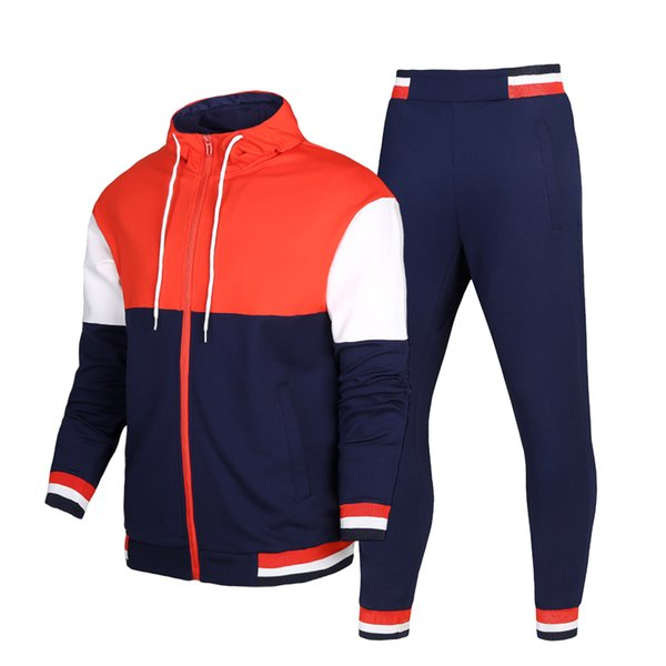 Men Sport Sets Tracksuit Windproof Warm Gym Sportswear Autumn New Sweater Hoodies Suit Classic Design Running Fitness Sportsuit