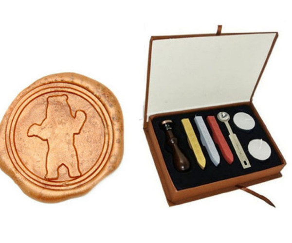 Vintage Big Bear Wax Seal Stamp Gift Box Kit Wedding Invitations Buy Stamps Online Custom Rubber Stamp From Sek001 15 58 Dhgate Com
